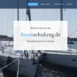 neuewebseite bootsschulung Berlin