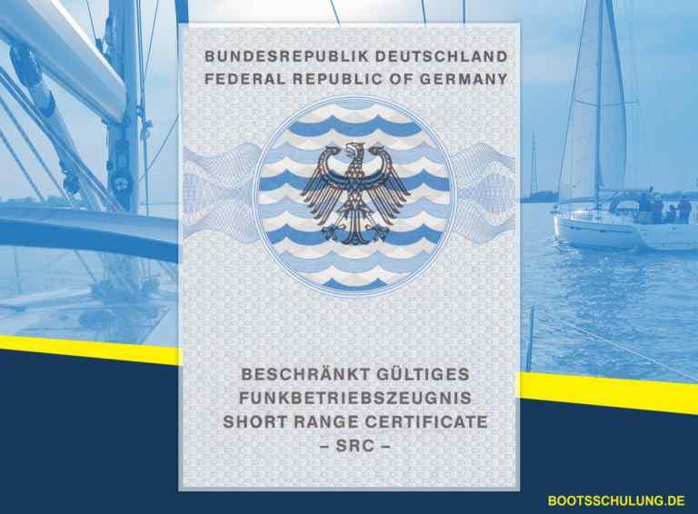Bootsführerschein - Sprechfunkzeugnis See Short_Range_Certificate_SRC_Beschränkt_gueltiges_Funkbetriebszeugnis